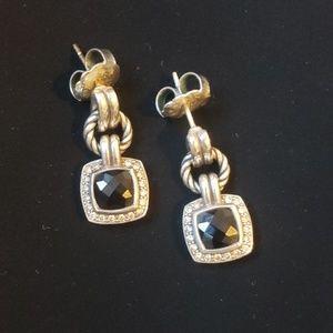 David Yurman black onyx earrings